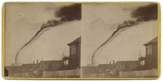 First photo of a tornado, shot in Anderson County, KS in 1884.