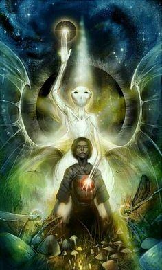 feminine mystique ॐ Aliens And Ufos, Ancient Aliens, Art Alien, Art Visionnaire, Psy Art, Visionary Art, Psychedelic Art, Sacred Geometry, Trippy