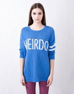Image result for blue sweater weirdo
