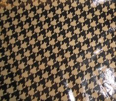 Black and Tan HOUNDSTOOTH Lambskin Leather Hide