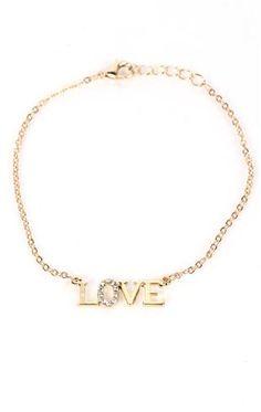 Deb Shops ankle bracelet with love charm $7.12