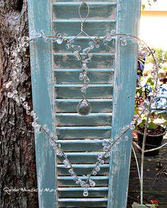 Crystal Heart Sun Catcher Garden Whimsy by GardenWhimsiesByMary