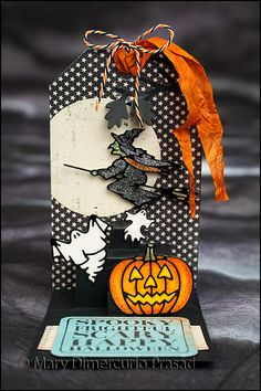 Awash with Color: Halloween Tag Card in 3D: October ECD Challenge