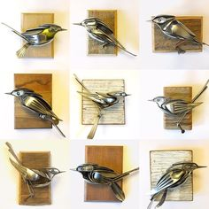 ... artist turns cutlery and unwanted scrap metal into magnificent bird sculptures