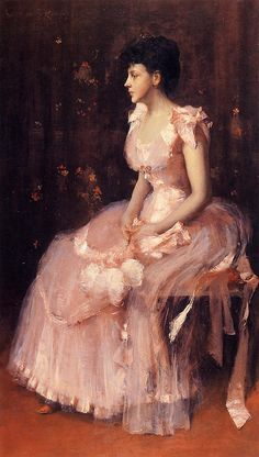 Portrait of a Lady in Pink, William Merritt Chase (1849-1916), American