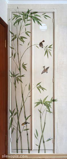 Роспись стены. Бамбуковые заросли.