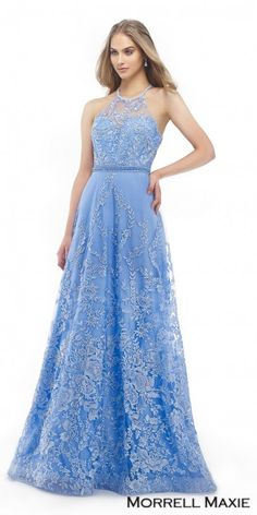 f40f7606b6d17 Floral Embroidered Cut Out Evening Dress by Morrell Maxie
