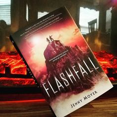 """We are coming to you from the wilderness in Virginia (we are camping this weekend).  . Todays read Flashfall by the talented @jennymoyer!! This book is an intense SCI-FI romance novel that should be on everyones tbr list!! . Here's a little about the book: """"Orion is a Subpar expected to mine the tunnels of Outpost Five near the deadly flash curtain. For generations her people have chased ciriumthe only element that can shield humanity from the curtains radioactive particles. She and her…"""