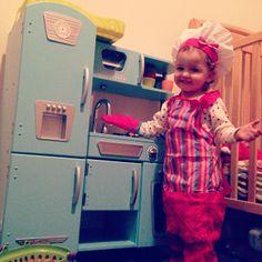 Kidkraft Retro Kitchen Blue uptown espresso kitchen #kidkraft #playkitchen #toykitchen