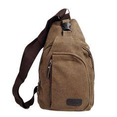 Amazon.com   Kalevel Cool Outdoor Sports Casual Canvas Unbalance Backpack  Crossbody Sling Bag Shoulder Bag Chest Bag for Men   Sports   Outdoors d6c77a63bd230