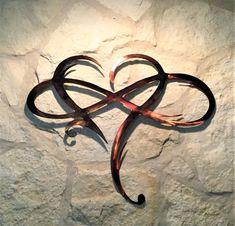 Infinity Heart Metal Wall Art --Always & Forever Infinity 21 x 24 Heart With Infinity Tattoo, Infinity Tattoo Designs, Infinity Tattoos, Infinity Symbol, Forever And Always Tattoo, Forever Tattoo, Body Art Tattoos, Tatoos, Art Mur