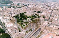 Vista aérea del Castillo de la Concepción - Cartagena - España