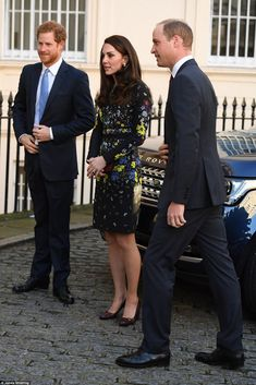 The Duke and Duchess of Cambridge and Prince Harry attend a briefing to outline the next p...