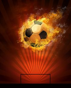 Soccer ball and fire. Hot soccer ball on the speed in fires flame , Football Wallpaper Iphone, Volleyball Wallpaper, Madrid Wallpaper, Fire Stock, Football Art, Soccer Quotes, Football Pictures, Sports Wallpapers, Lock Screen Wallpaper
