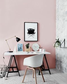 Shared by duluxnz #homedesign #contratahotel (o) http://ift.tt/1TdO9uQ spaces are traditionally masculine in style - why not flip that idea on its head with a soft pink like Dulux Alexandra