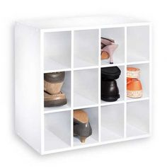 Howards Storage World | 12 Cube Shoe Closet Organiser in White