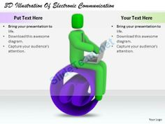 1813 3D Illustration of Electronic Communication Ppt Graphics Icons Powerpoint #Powerpoint #Templates #Infographics
