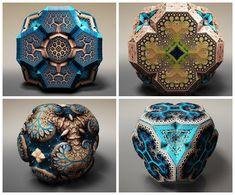 """Former laser physicist turned artist, Tom Beddard's """"Fractals"""""""