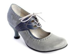 Fluevog Mollie Johnson grey/navy 8.5