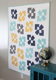 Lucky Duck is perfect for using either Layer Cake squares or Fat Quarters. Pattern includes measurements, instructions, and diagrams for creating five sizes of quilts: crib, lap, throw, twin, and queen. Pattern by Andy of A Bright Corner Layer Cake Quilt Patterns, Layer Cake Quilts, Baby Quilt Patterns, Modern Quilt Patterns, Fat Quarter Quilt Patterns, Quilt Blocks Easy, Easy Quilts, Star Quilts, Scrappy Quilts