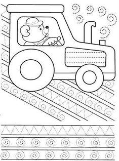 Tracing line worksheet Drawing Activities, Motor Activities, Craft Activities For Kids, Educational Activities, Pre Writing, Writing Practice, Writing Skills, Tracing Worksheets, Preschool Worksheets