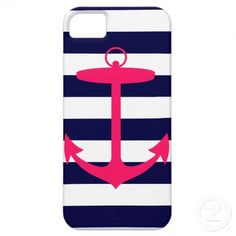 nautical Pink Anchor Silhouette iPhone 5 Cover