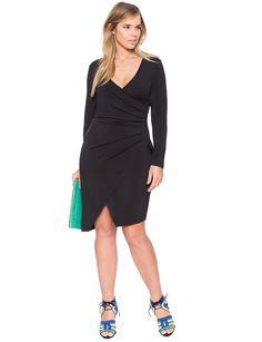 Asymmetrical Wrap Dress   Women's Plus Size Dresses   ELOQUII