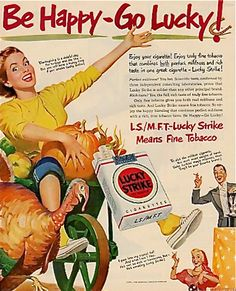 Lucky Strike Thanksgiving advertisement, 1950s