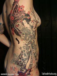 Beautiful geisha tattoo leras_tatparlor