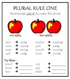 20 Spelling Rules and 10 Plural rules | Parkhurst State School