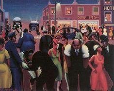 Archibald John Motley, Jr (American Harlem Renaissance painter, 1891-1981) Black Belt