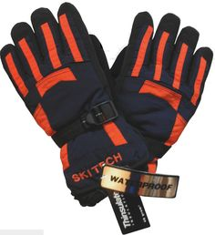 New Gymboree Black Blue Camo Print Winter Ski Patrol Gloves Size Medium 6 8 Year