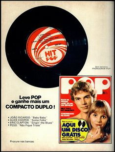 Anúncio revista Pop - 1975