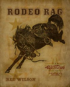 old rodeo posters | Vintage Rodeo Poster Art