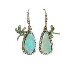 Opal Drop Dragonfly Earrings #opalsaustralia
