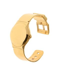 gold plated sterling silver watch cuff by Husam el Odeh