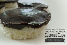 Chocolate Covered Coconut Cups: No Baking Involved! - The Real Food Guide | therealfoodguide.com