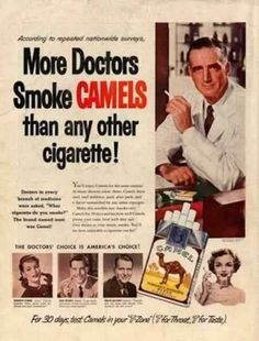 More Doctors Smoke CAMELS than any other cigarette!