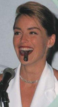 Sharon Stone - cigar