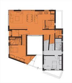 Skiplex Home(스킵플렉스 홈) : 서로 교차하며 감싸 안은 자매의 집 : 네이버 포스트 Magazine Contents, Floor Plans, How To Plan, Building, House, Houses, Home, Buildings, Homes