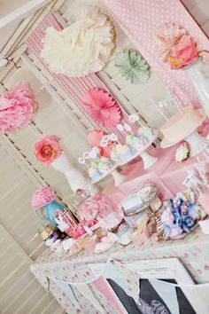 invite idea Such a cute party! Shabby Chic Tea Party Decor via Kara's Party Ideas - www. Tea Party Birthday, First Birthday Parties, Birthday Ideas, Shabby Chic Birthday Party Ideas, Geek Birthday, Cumpleaños Shabby Chic, Princess Tea Party, Princess Birthday, Princess Bridal
