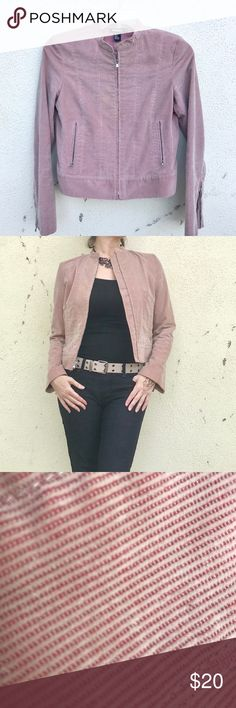 DNKY corduroy jacket dusty ROSE waist zip POCKETS Classic fit! Light Dusty ROSE corduroy flat front jacket by DNKY. Great silhouette - zip closure, straight lines, goes to the waist. Marked as a 8, fits Medium. Poly/cotton blend. Great versatile color, great condition ! (0108) Dkny Jackets & Coats