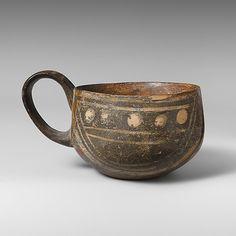 Terracotta one-handled cup Period: Middle Minoan I Date: ca. 2200-1900 B.C. Culture: Minoan