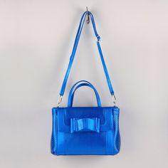 sac bandoulière rétro Castalia bleu
