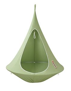 Get a birds eye view of nature hanging out in your own nest in the trees! You'll love this Hanging Cacoon Tent! We show you how to make your own hanging day bed out of a Trampoline too!
