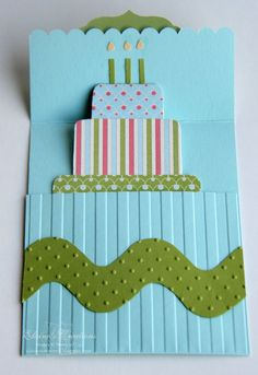 Birthday Pop-up card  - Stampin' Up! www.elainescreations.blogspot.com