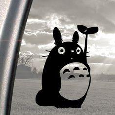 Amazon.fr : Ritrama Autocollant pour fenêtre de voiture Motif Studio Ghibli Totoro Noir