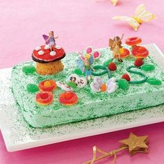 <p>Flitting+fairies+won't+be+the+only+ones+drawn+to+this+cake.+Kids+will+hover+over+the+candy+flowers+and+colorful+butterflies+--+and+you'll+love+that+they're+a+breeze+to+assemble.</p>