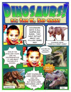 Dinosaur Comic created in Comic Life!