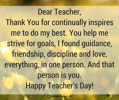 45 Happy Teacher's Day Quotes And Messages To Celebrate Your Mentor's Special Day | SayingImages.com